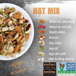 Hat mix 8 loai hat DK harvest