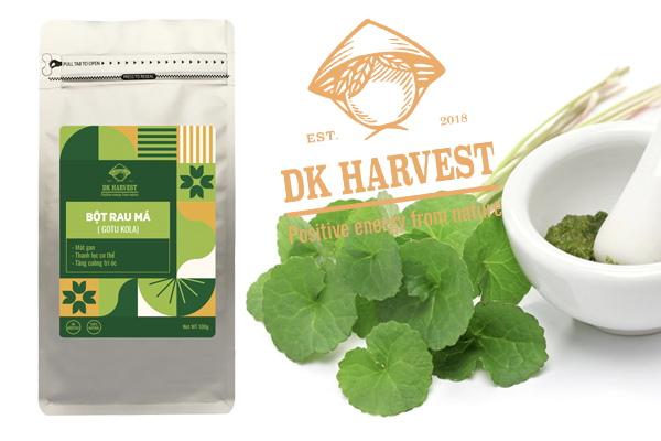 Bột rau má mua ở đâu? Bột rau má nguyên chất Dk Harvest